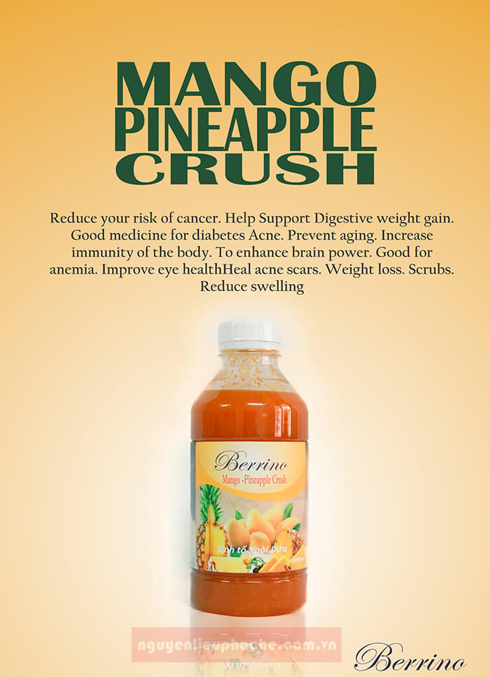 sinh tố xoài dứa berrino 1