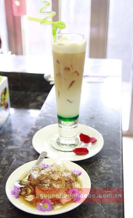 ice milk tea vị bạc hà