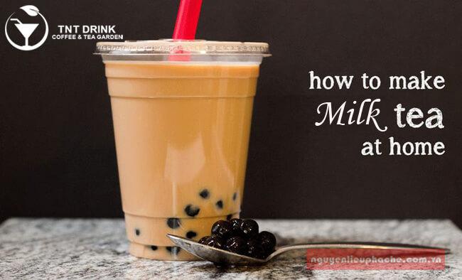 cách làm trà sữa tại nhà cực dễ