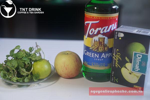 công thức làm mojito táo xanh