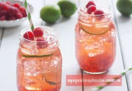 Honey lime Raspberry Soda