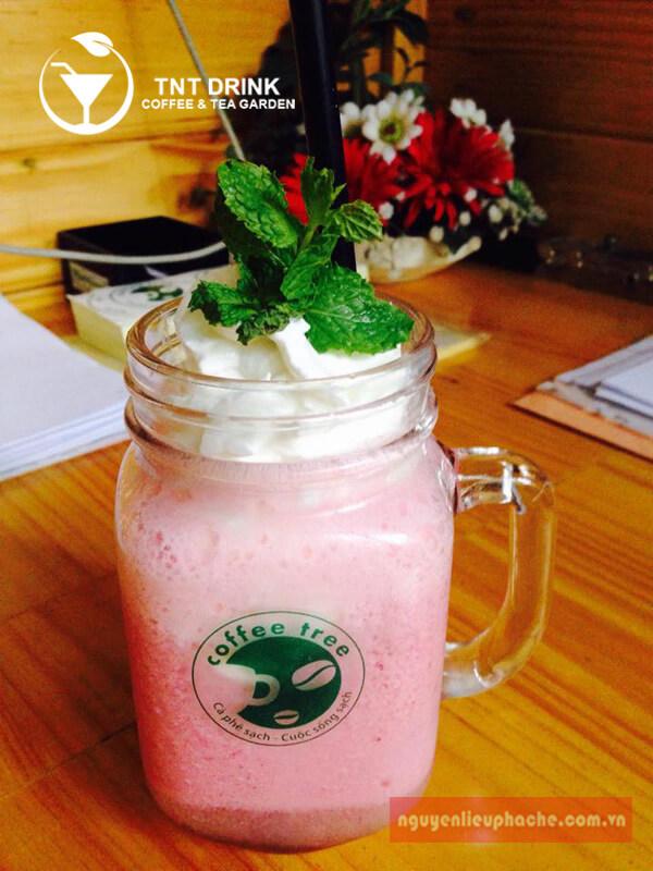 Công thức pha chế raspberry soda float 3