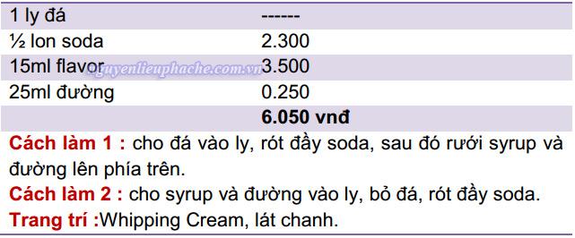 công thức chung làm soda ý 1