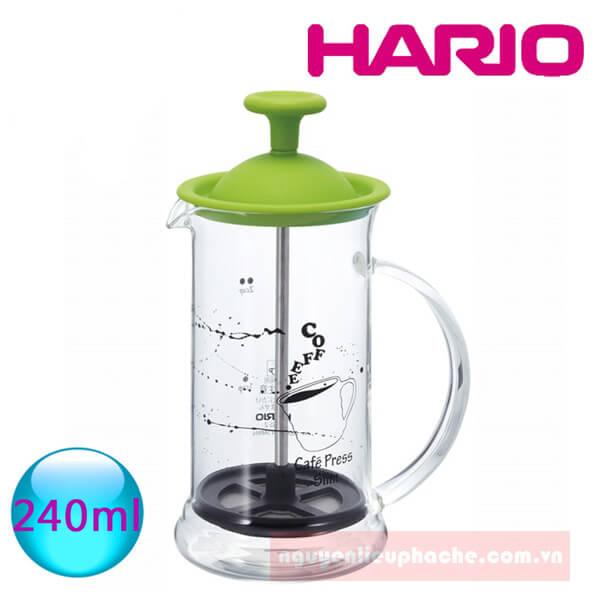 Bình french press nắp nhựa 2 ly 1