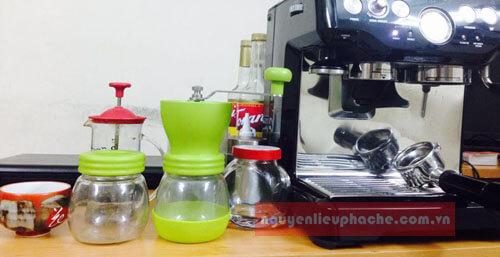 cối xay cafe tiamo thủy tinh