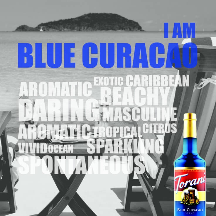 Sirup Curacao Xanh 2