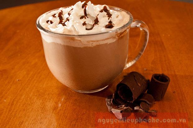 công thức pha chế cà phê mocha