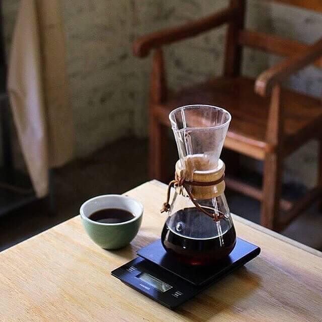 Cach pha cafe bằng bình chemex