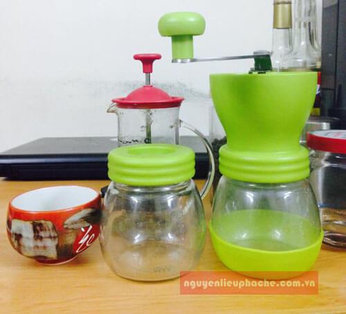 cối xay cafe tiamo thủy tinh 1